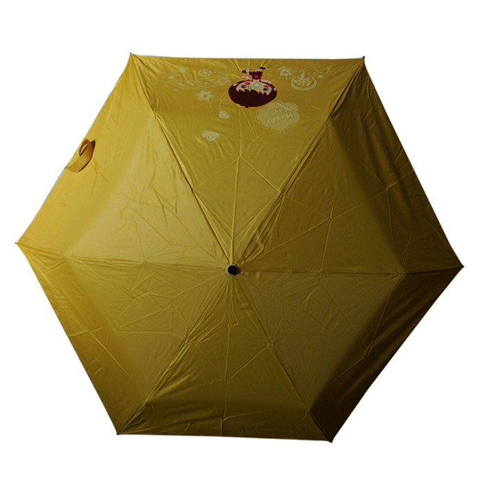 Polyester Cover Chinese Doll Folding Deco Bottle Umbrellas Guangzhou