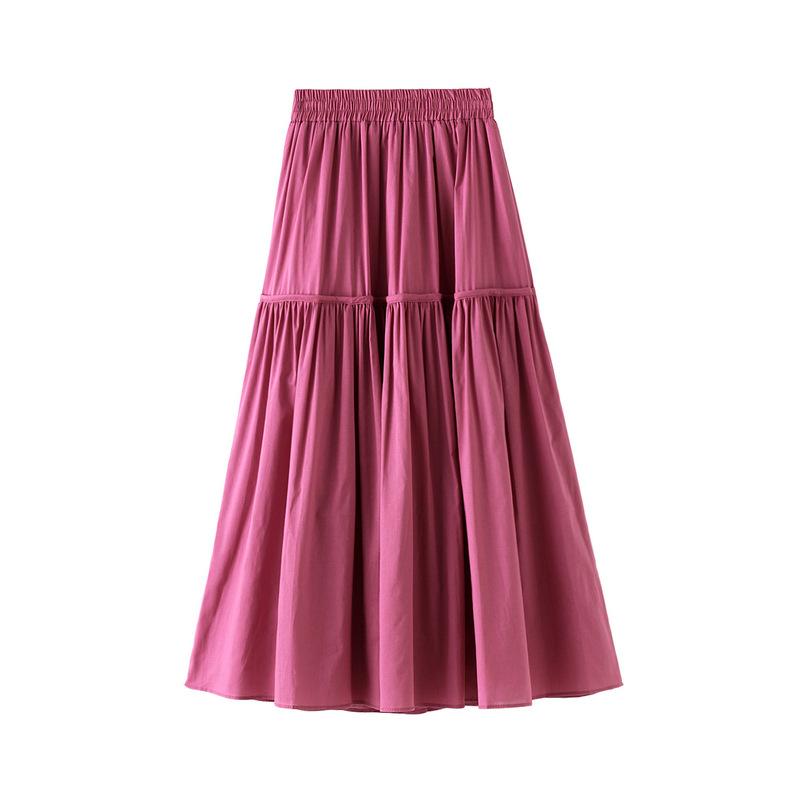 여성 패션 높은 허리 단색 롱 스커트 모든 경기 의류 레이디 캐주얼 스트레치 두꺼운 스커트