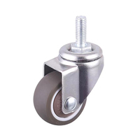 Factory Wholesale M8 Threaded Screw TPE 2 Inch Caster Wheels For Sewing Machine