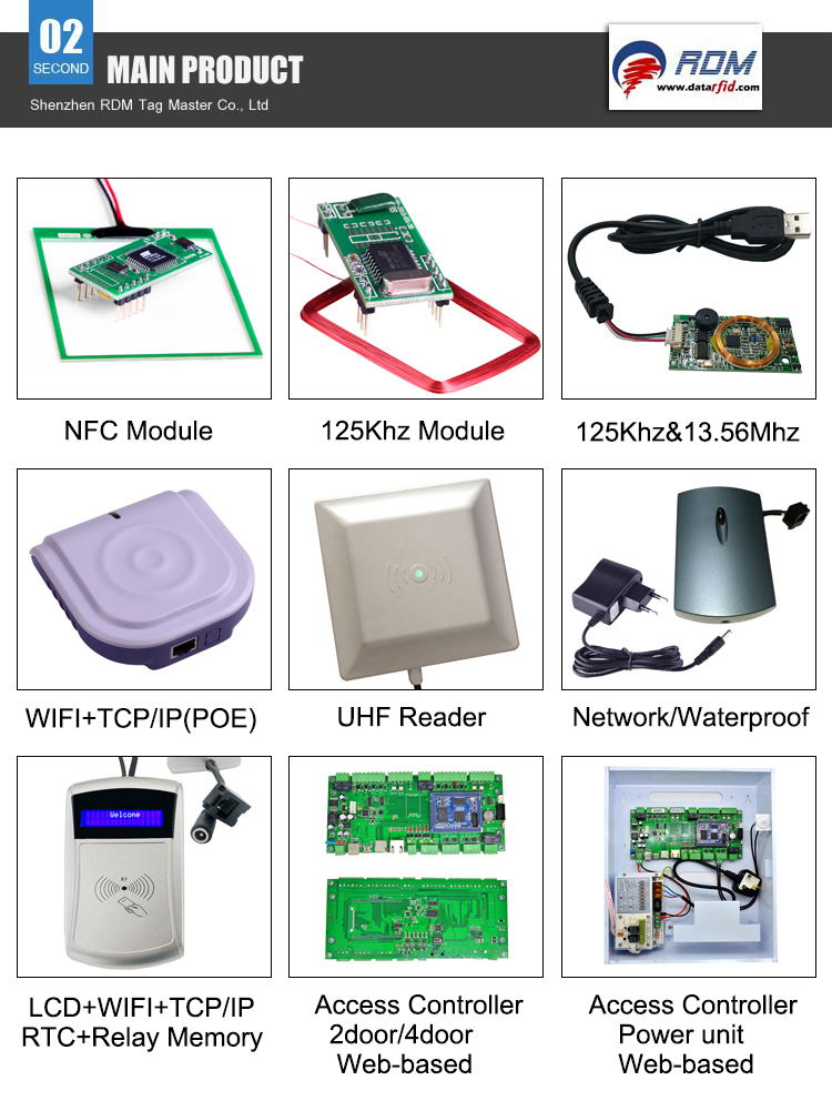 125khz 13.56mhz Contactless Long Range NFC Rfid Reader Wifi