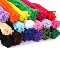 25/50/100pcs 6mm Random Mix Chenille Stems Pipe Cleaners Children's Educational Toys Plush Stick DIY Art Craft Supplies L0209
