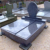 funeral tombstone grave monuments granite golden guitar headstones/monuments
