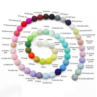 Silicone Beads Wholesale Round Baby Teething Silicone Beads For Teething Jewelry Wholesale