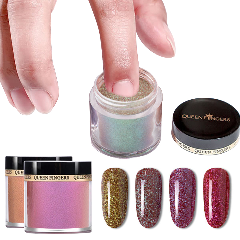Hot sale 18 colors nail polish pigment shinny glitter nail powder acrylic dipping powder system for salon beauty