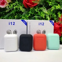Hot Selling i12 TWS Wireless BT5.0 Double Calling Earphone For iPhone Android Earbuds Headphone