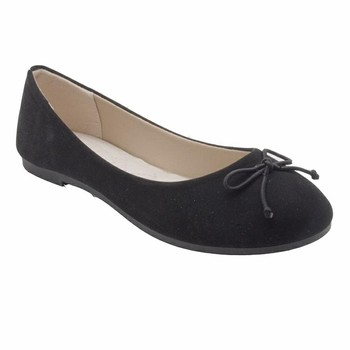 Black Lady Flat Dress Shoes For Office