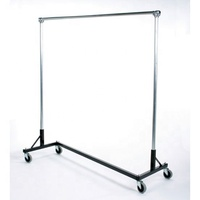 folding stainless steel garment rack