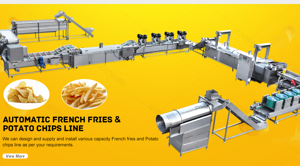Potato chip production line,washing,frying,drying and packaging integrated production line