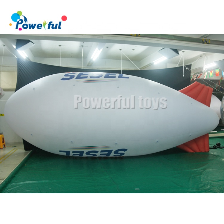 Advertising inflatables flying helium blimps with custom logo