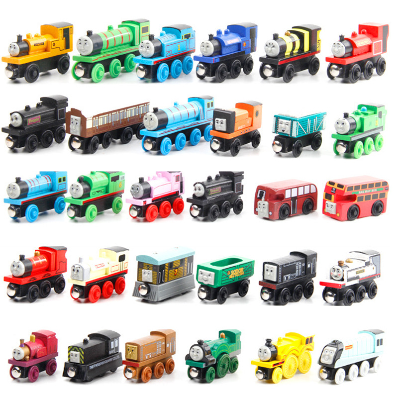 Hot sale kids wooden thomas train <strong>toys</strong> wooden magnetic mini thomas wooden train set <strong>toy</strong>