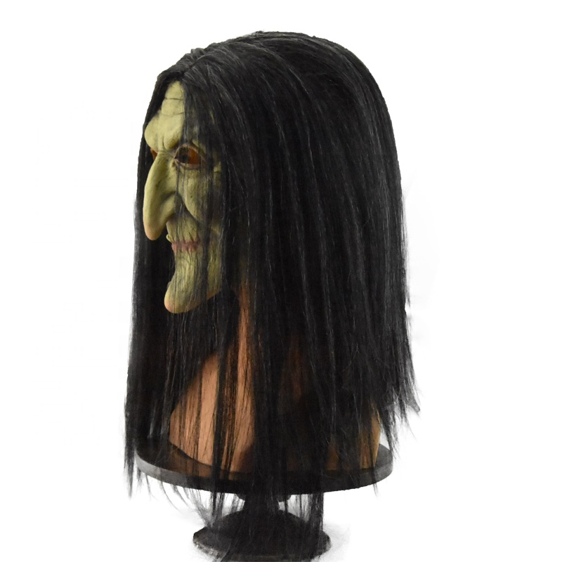 Wholesale price Witch Mask Black Terrorist Halloween For Adult Toys Halloween Party  Cosplay  Latex mask