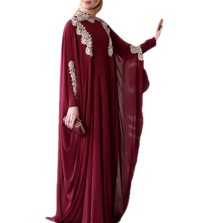 Mxchan Chất Lượng Cao Maxi Dress Đính Moroccan Morocco Thắt Lưng Ngang Hông Moroccan Kaftans