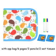 Волшебные игрушки для рисования водой для детей ремесло детская доска многоразовая живопись книга складной мел доска с ручкой для детей По...(Китай)