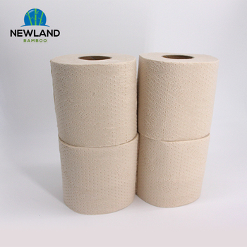 4 pack 2 ply Eco Friendly FSC Unbleached Bamboo Chinese Toilet Paper