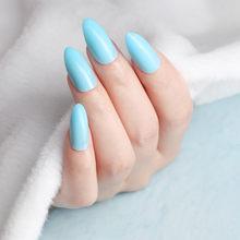 24 шт конфетные искусственные ногти светло-оранжевые накладные ногти на шпильках для маникюра E140(Китай)