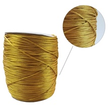 2mm Ouro Coreano Poliéster <span class=keywords><strong>De</strong></span> <span class=keywords><strong>Seda</strong></span>/Encerado Cord/<span class=keywords><strong>corda</strong></span> para DIY Fazer Jóias