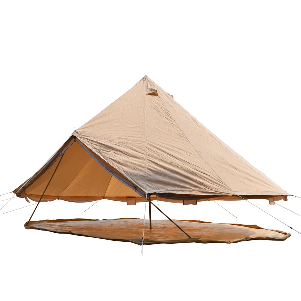 3M 4M 5M 6M 7M New design outdoor canvas bell tent two door canvas bell tent for sale