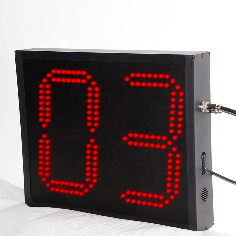 巨大な 9 インチ赤カウントダウンタイマーデジタル時計 2 桁 led ディスプレイ