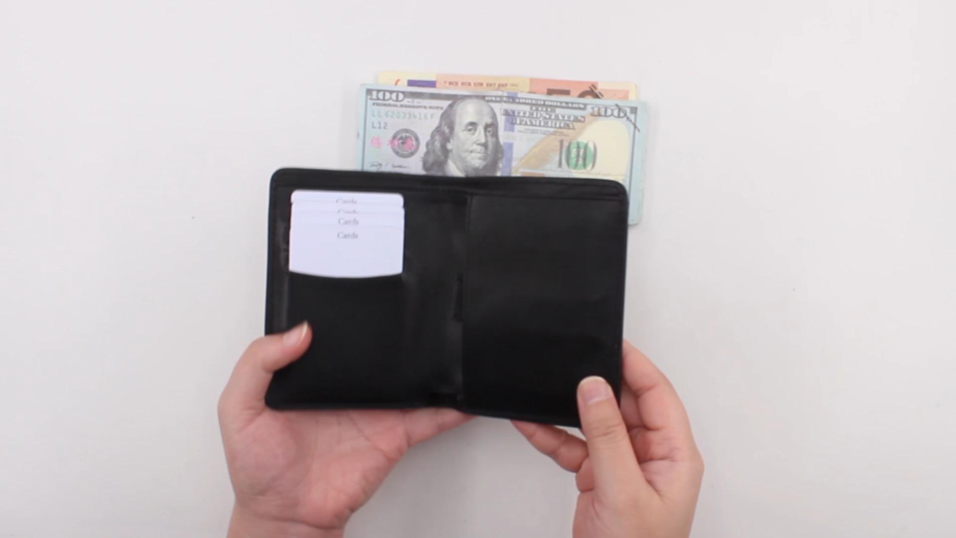 Großhandel Custom Amazon Beste Verkauf Dünne Karte Halter brieftasche Minimalistischen Brieftasche Männer Leder männer Brieftasche