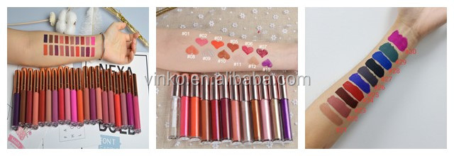 Long Lasting Romantic Beauty Cosmetic Custom Matte Liquid Lipstick