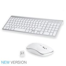 SeenDa, малошумная беспроводная клавиатура и мышь, комбо, ультра-тонкая беспроводная клавиатура, мышь для ноутбука, ноутбука, компьютера, Smart TV(Китай)