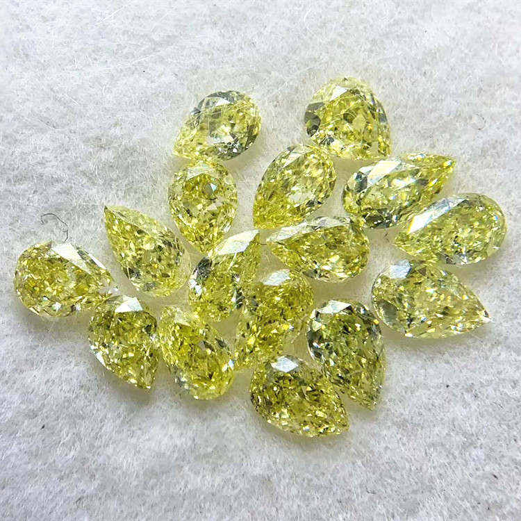 SGARIT usine en gros en vrac de haute qualité couleur diamant pour bijoux 3.591ct VS-SI fantaisie jaune diamant naturel en vrac