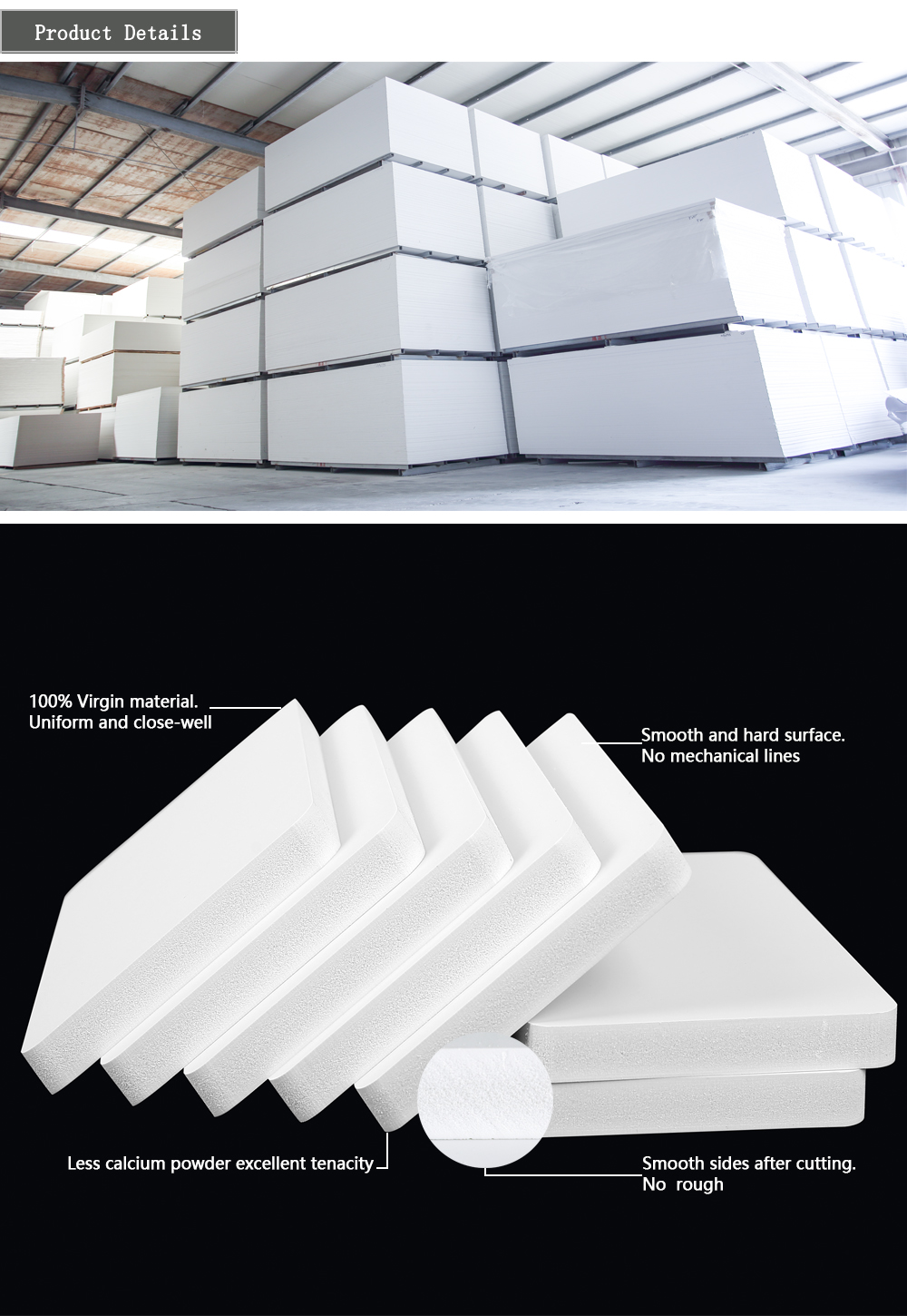 SMARTBULL sintra white pvc foam board for construction, advertising, furniture industry