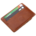 new design genuine leather money clip minimalist holder rfid blocking credit card wallet