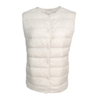 crowd funding custom oem mens winter traditional price buttons blank lightweight goose down filling waistcoat vest