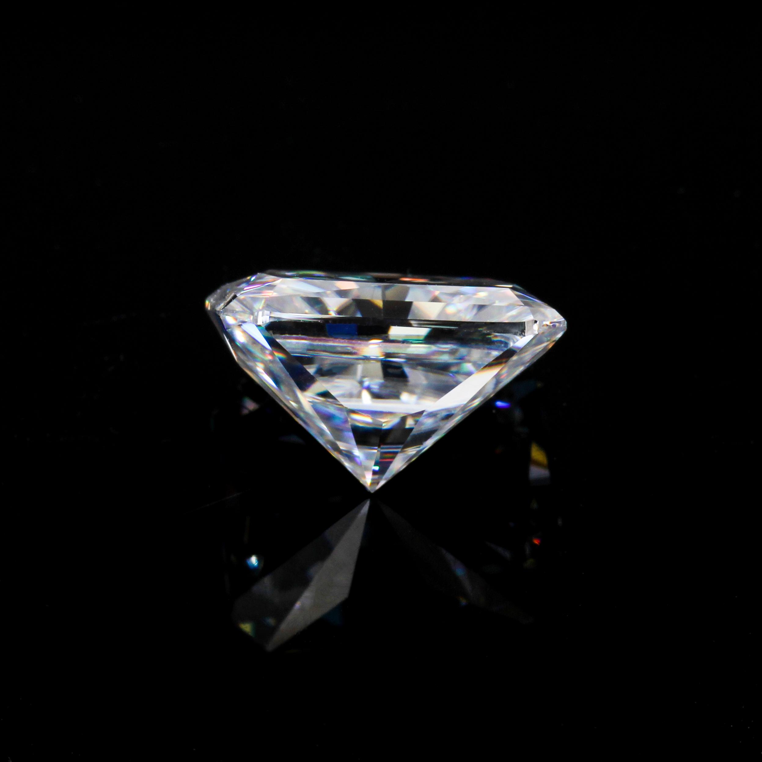 Starsgem high quality 1ct d color super white radiant moissanite