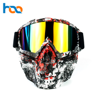 High Quality Dustproof Skull Face Mask Protective Goggles