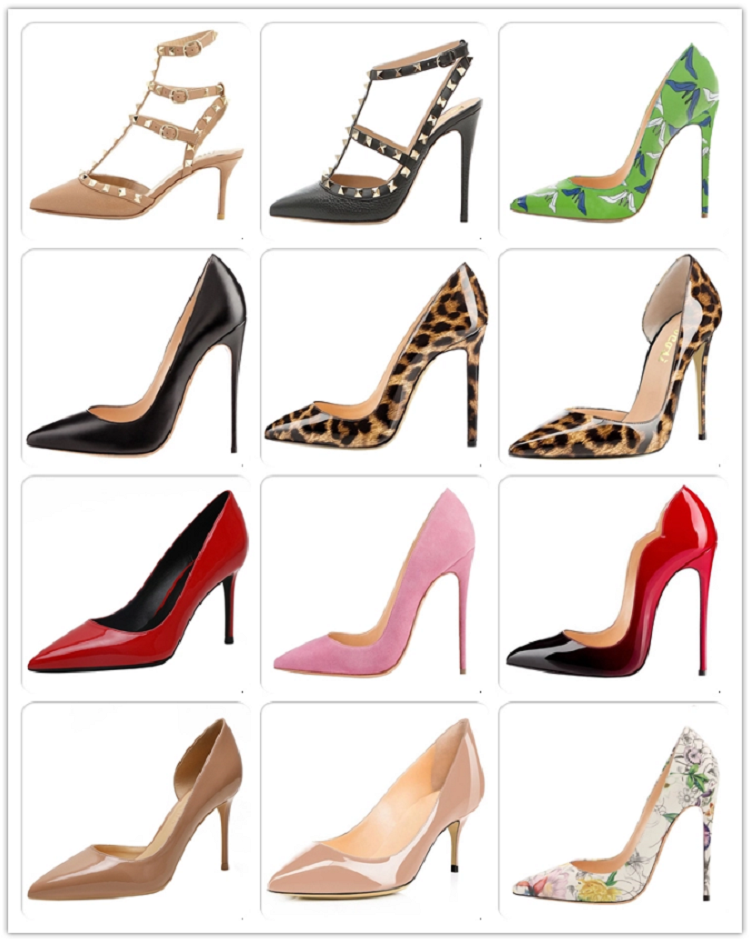 Fashionable Sexy Horsehair Custom 6/8/10/12 CM High Heels Stiletto Women Leopard Shoes Heels