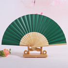 Folding Fan Fans Best Selling Chinese Japanese Plain Color Bamboo Large Rave Folding Paper Hand Fan Craft Fans