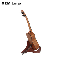 J-50 Wholesale Vintage Classical Style Wood Folding Music Mandolin Violin And Ukulele Display Stand Custom OEM