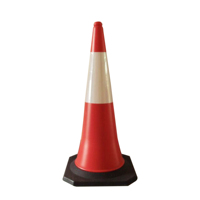 Manufacture Hot Sale Plastic PE Used Safety Road Traffic Cones With Rubber Base