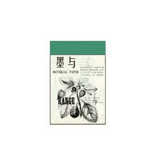 JIANWU 100 листов бумаги с серной кислотой, ретро блокнот с ручной записью, карта сообщений, дневная бумага для творчества, школьные принадлежно...(Китай)