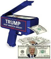 E1447 Keep America Great Cash Spray Rain Money Shooter Gun Donald Trump 2020 Money Gun MAGA Toy Election Trump Money Gun