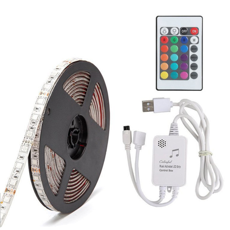 Amazon Hot IP65 USB 2m LED music Strip Flexible Lights