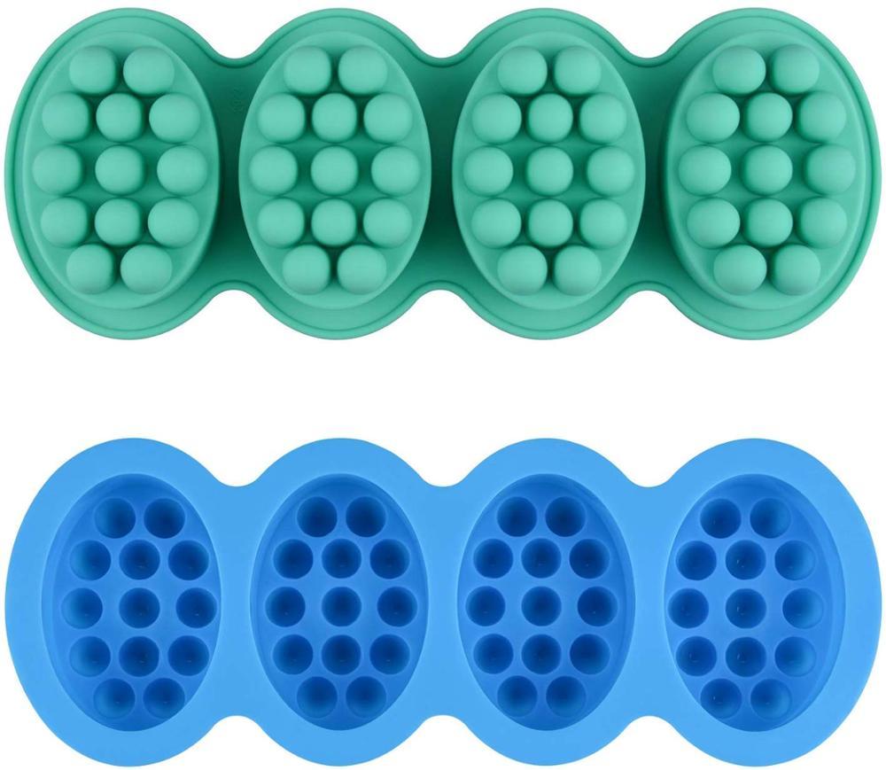 2 шт. силиконовые массаж бар мыло формы