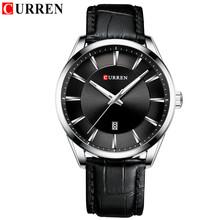 CURREN 2020 новые мужские модные брендовые водонепроницаемые кварцевые часы Casua мужские военные кожаные спортивные часы мужские часы Relogio Masculino(Китай)