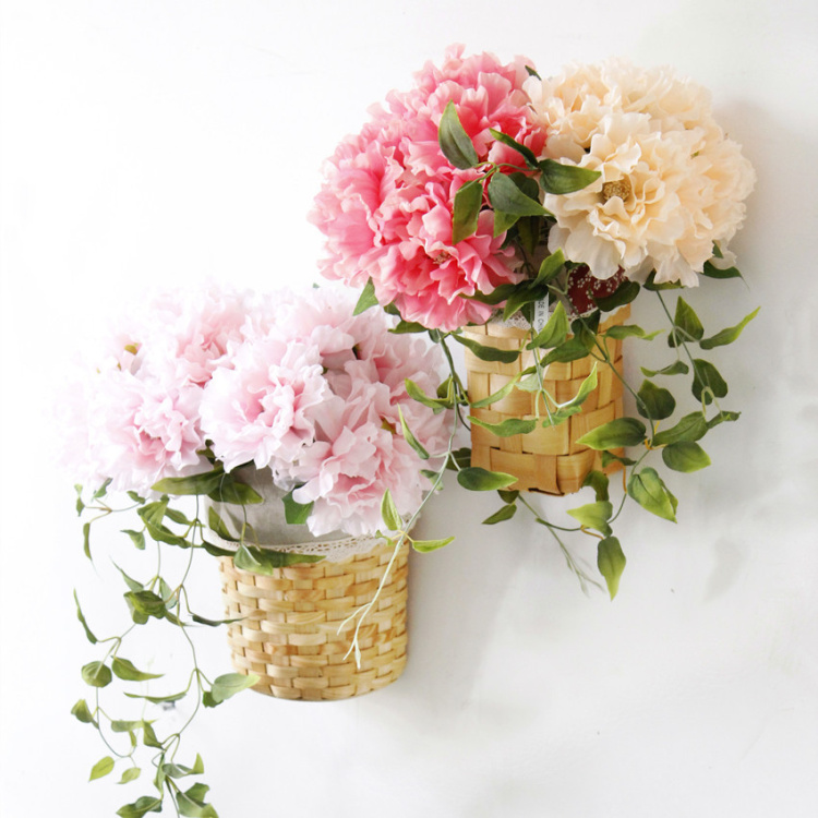 New arrived decorative 5pcs/bunch brides wedding artificial peony bouquet