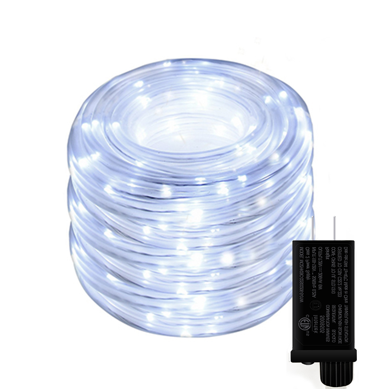 Decorative Street Outdoor Christmas Led Dimmable String Lights Tube Lights Plug In With Remote