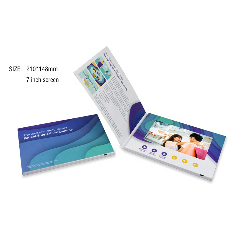 Customized 2.4 4.3 7 Inch LCD Display A4 Video Brochure A5 Digital Greeting <strong>Card</strong> for Brand Business