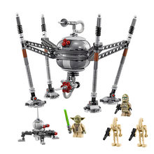 05025 роботы-пауки, строительные блоки, совместимые с Lepining, Звездные войны, 75142, Звездные войны, кирпичи, подарок на день рождения, игрушки для д...(Китай)