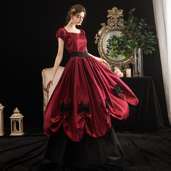 Red And Black 18th Century Ball Gown Womens Southern Belle Costume Buy Womens Southern Belle Costume Princess Belle Costumes Ball Gown Halloween Costumes Product On Alibaba Com