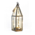 HX-8061 Home decoration metal glass hanging clear glass candle vintage metal lantern candle holder for home