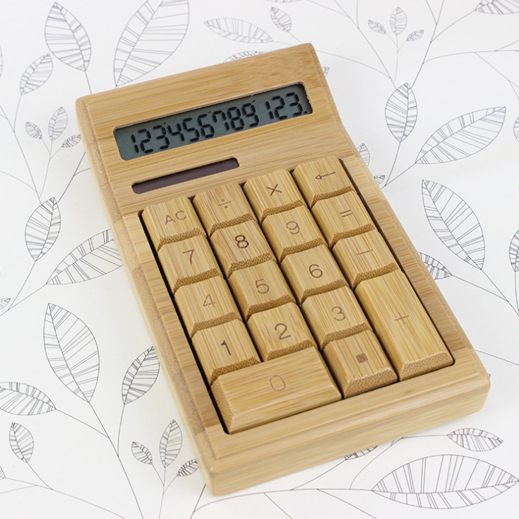 Fast Delivery Wholesale Biodegradable Bamboo Wooden Calculator