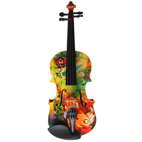 Advanced acoustic colorful violin HSHB002 with plywood body, hardwood fingerboard and fittings