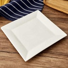 cheap bulk square ceramic dinner plate dishes porcelain dinner serving set for hotel crockery