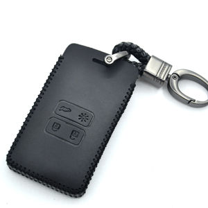 Wholesale Leather Car Remote Key Shell Fob Cover Case for Renault Laguna Espace 2 buttons Car Keychain Protection Case